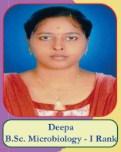 Deepa B.Sc Microbiology - I Rank
