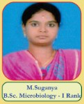 M.Suganya B.Sc Microbiology - I Rank