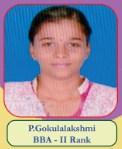 P. Gokulalakshmi BBA - II Rank