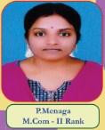P.Menaga M.Com - II Rank