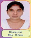 R.Sangeetha BBA - II Rank