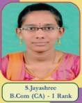 S.Jayashree B.Com(CA) - I Rank