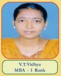 V.T.Vidhya MBA - I Rank